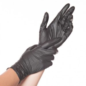 Nitrile gloves SAFE LIGHT, powderfree (Black)